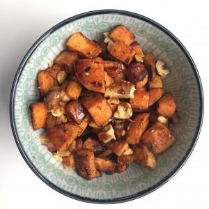 Spiced Sweet Potatoes with Pomegranate Molasses; Boston Personal Chef