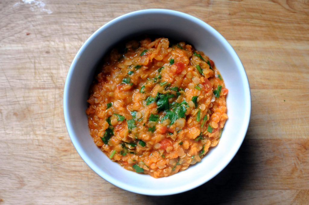 bowl of red lentil daal