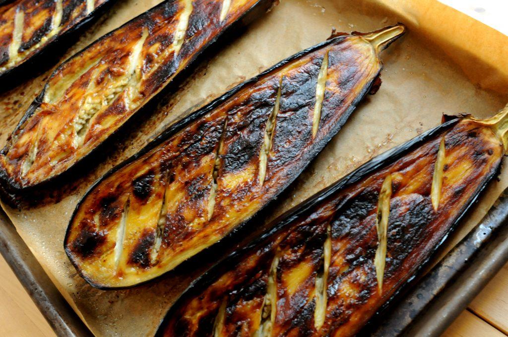 Roasted Eggplant Halves