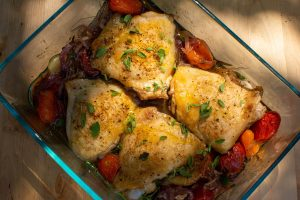 Roasted Chicken and Tomatoes