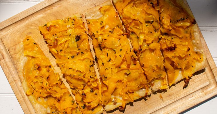 Butternut Squash and Caramelized Onion Tart