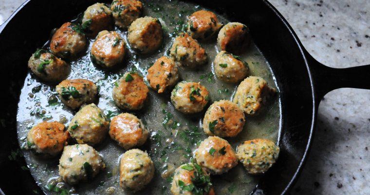 Chicken Picatta Meatballs